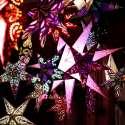 Lustres papiers en forme d'étoile